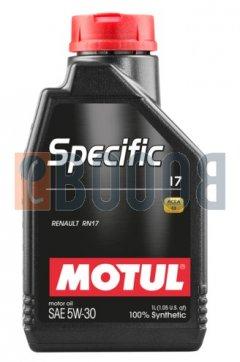 MOTUL SPECIFIC 17 5W30 FLACONE DA 1/LT