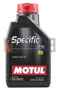 MOTUL SPECIFIC 17 FE 0W20 FLACONE DA 1/LT