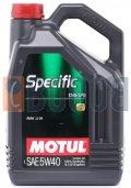MOTUL SPECIFIC CNG/LPG 5W40 FLACONE DA 5/LT